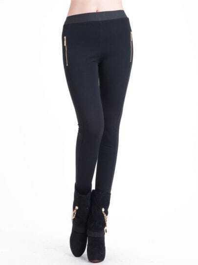 Dark Grey Side Zipper Slim Pant