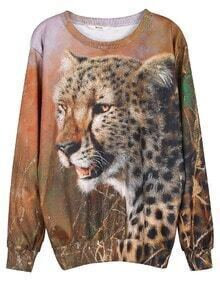 Brown Cheetah Print Unisex Sweatshirt