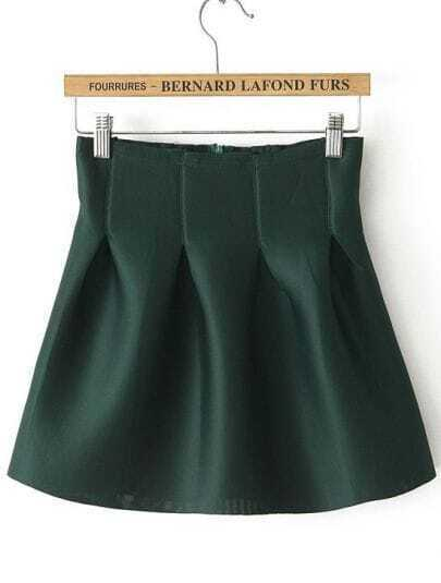 Green Flare Tiered Skirt