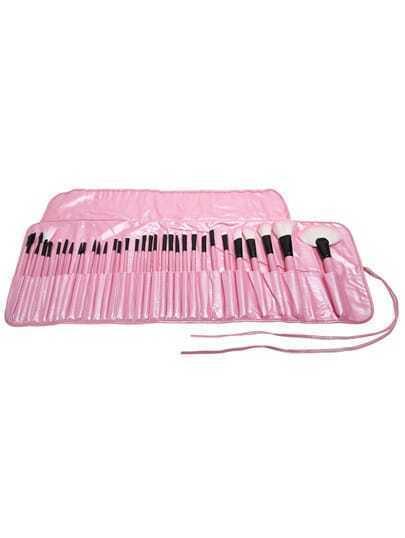32 pcs Pink Makeup Brush Kit