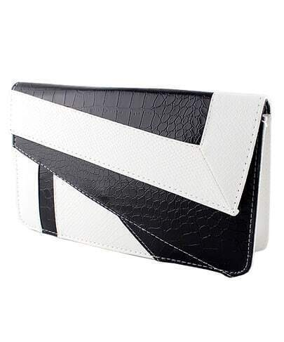 White PU Leather Messenger Bag