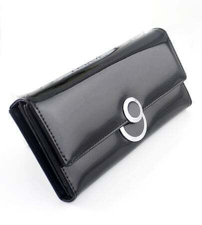 Black PU Leather Clutch Bag