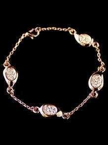 Gold Crystal Link Bracelet