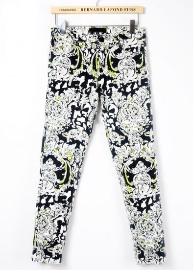 White Casual Floral Pocket Pant