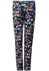 Black Floral Pockets Pant