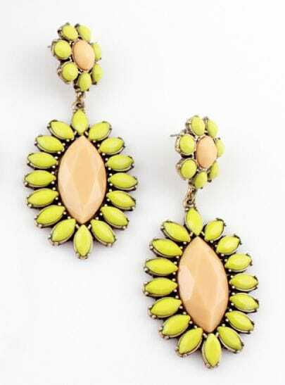 Fashion Yellow Bead Earrings