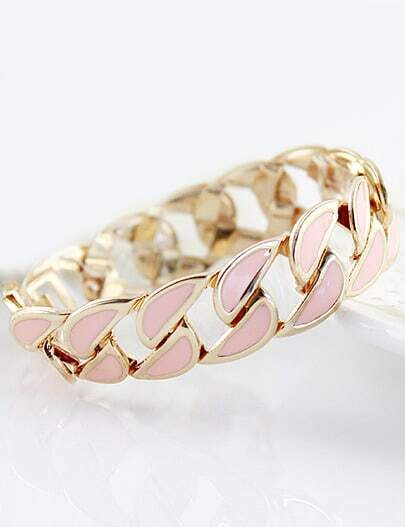 Pink Gold Hollow Chain Bracelet