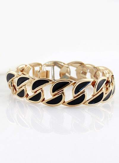 Black Gold Hollow Chain Bracelet