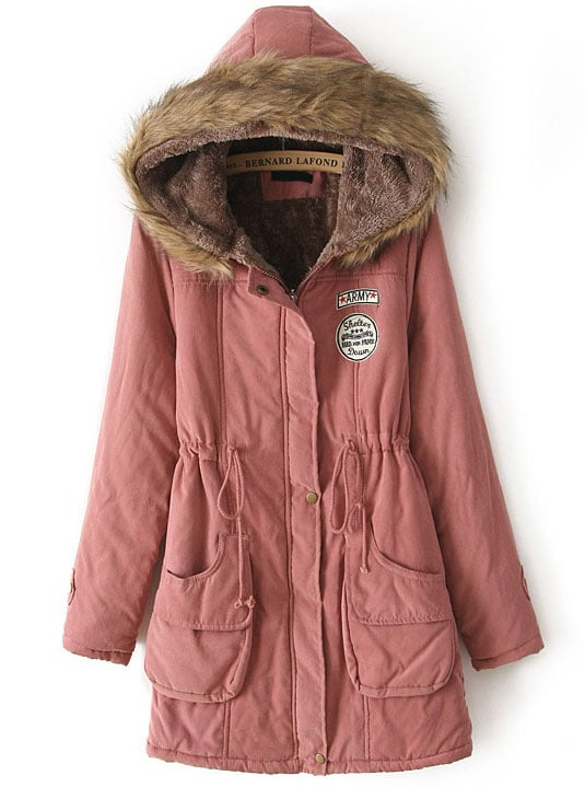 Pink Hooded Coat