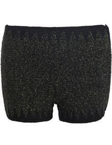 Green Bandage Bead Skinny Shorts