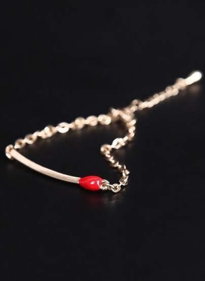Gold Matches Chain Bracelet