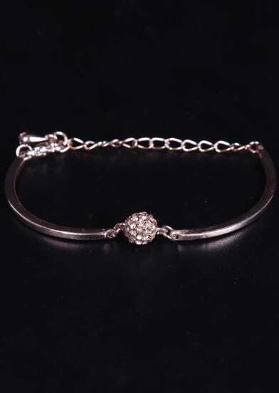 Gold Diamond Chain Bracelet