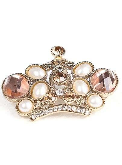 goldene Krone-Brosche