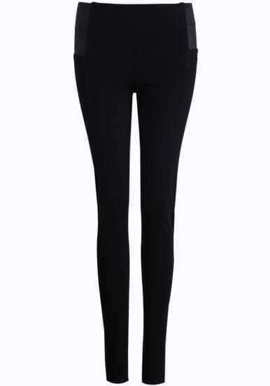 Black Skinny Elastic Leggings