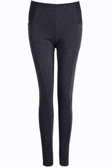 Dark Grey Skinny Elastic Leggings