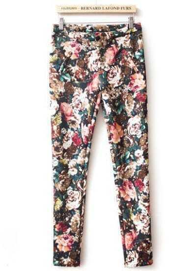 Multi Slim Floral Skinny Leggings
