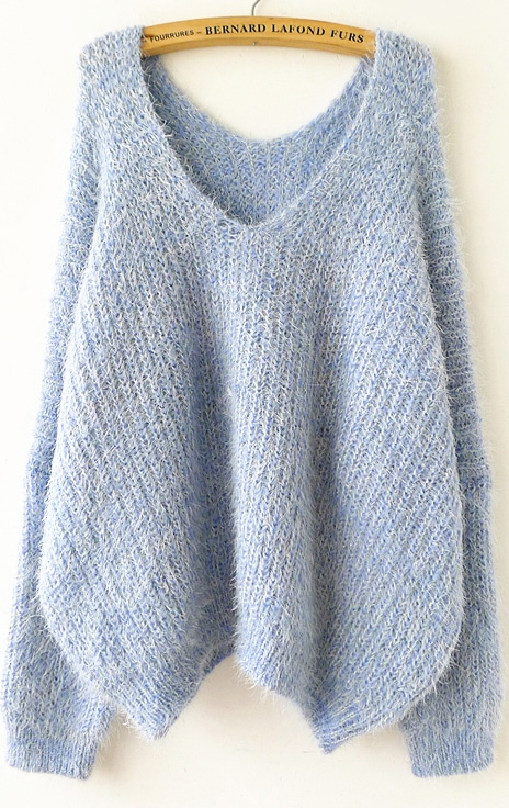 Blue Long Sweater 13