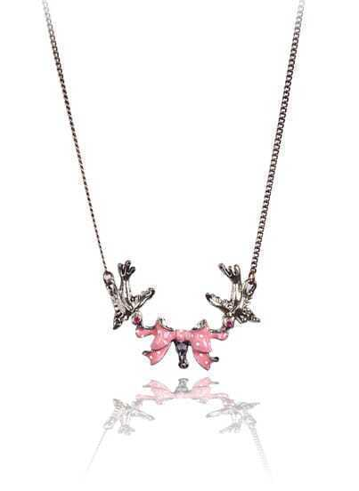 Retro Gold Birds Bow Necklace