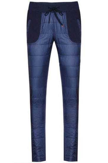 Blue Drawstring Waist Down Pant