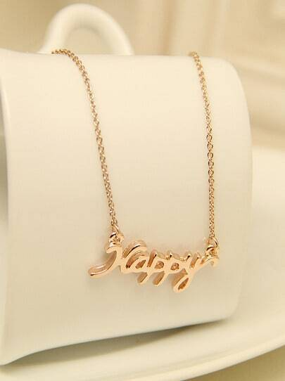 Gold Happy Chain Necklace