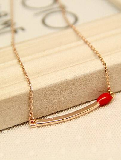 Gold Glaze Matches Chain Necklace