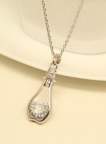 Silver Gemstone Gold Bottle Chain Necklace