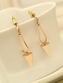 Gold Tapered Stud Earrings