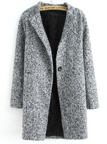 Veste en tweed avec bouton unique