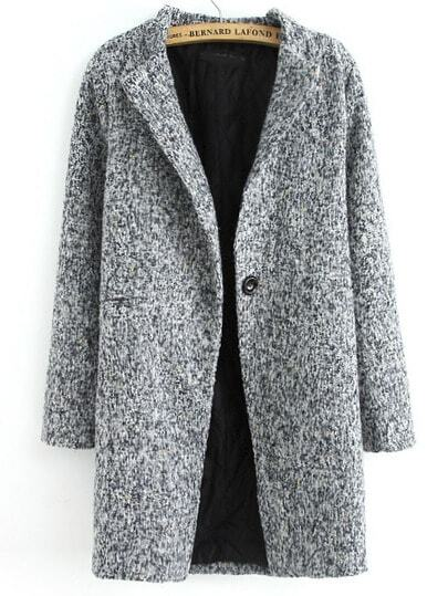 Space Dye Tweed Coat