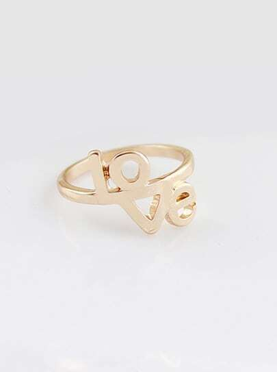 Fashion Gold LOVE Ring