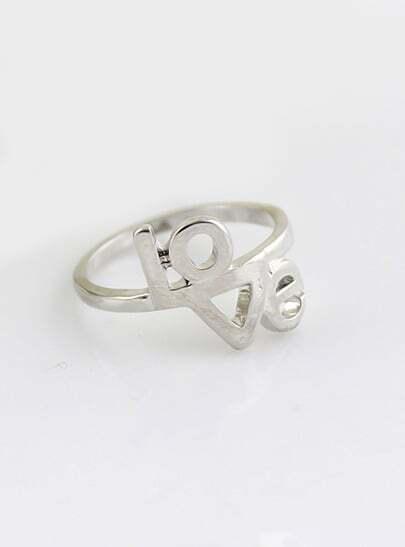 Fashion Silver LOVE Ring