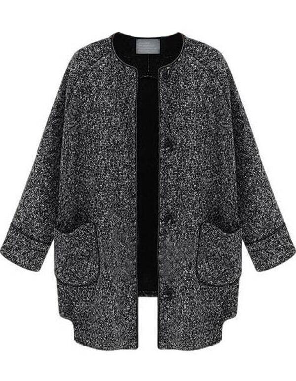 Black tweed coat