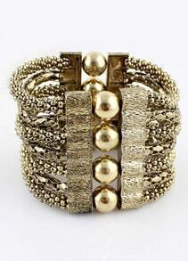 Retro Gold Bead Multilayer Bracelet