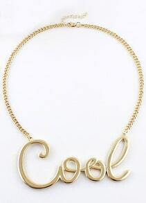 Gold Cool Chain Necklace