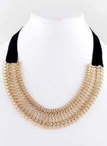 Gold Chain Cloth Necklace