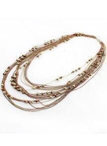 Gold Bead Multilayers Chain Necklace
