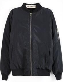Black Long Sleeve Sequined Mickey Pattern Jacket