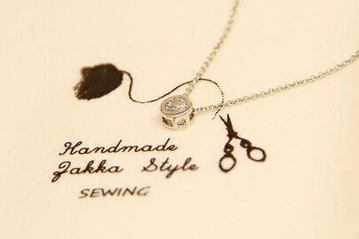 Silver Zircon Chain Necklace