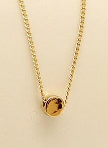 Gold Round Chain Necklace