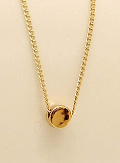Gold Round Chain Necklace