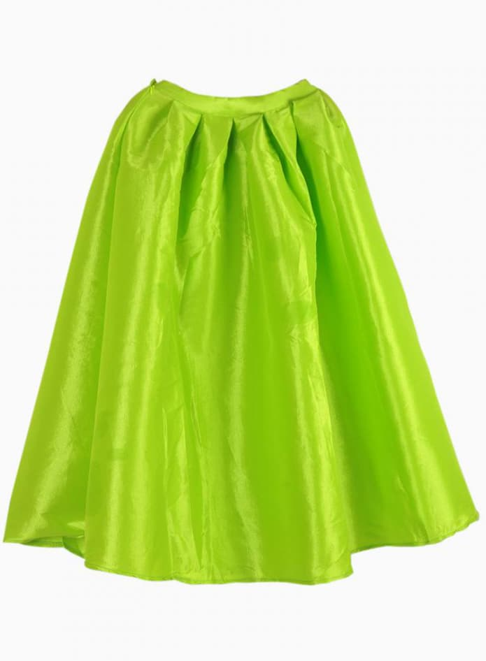 bright neon green midi skater skirt shein sheinside
