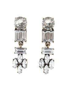 Retro Gold Diamond Geometric Earrings