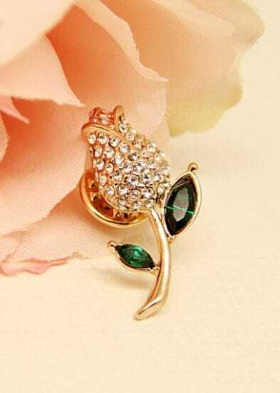 Green Gemstone Gold Diamond Flower Stud Earrings