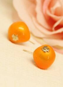 Orange Cherry Lovely Earrings