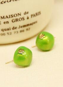 Green Cherry Lovely Earrings
