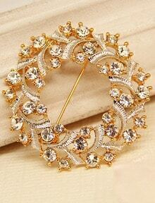 Gold Diamond Hollow Brooches