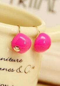 Rose Red Cherry Lovely Earrings