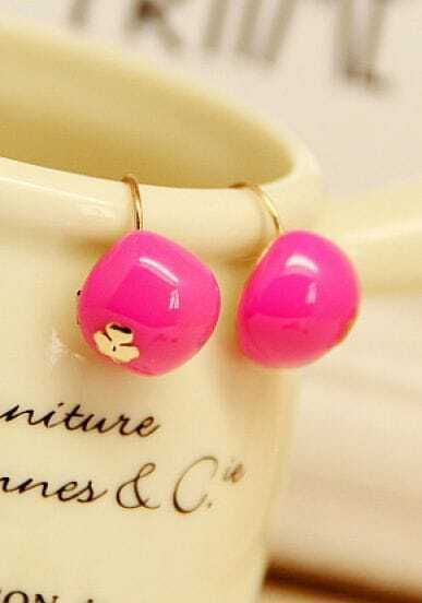 Rose Red Cherry Lovely Earrings