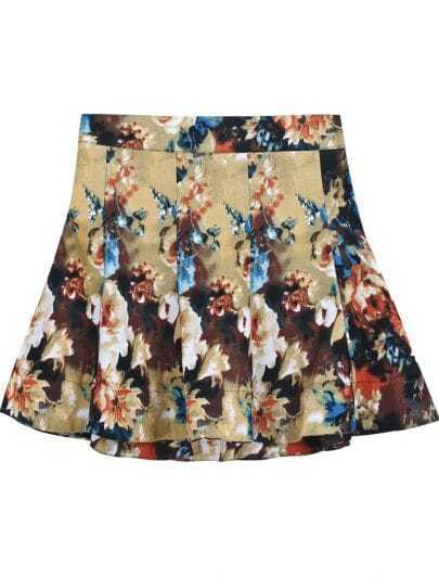 Yellow Ruffle Vintage Floral Skirt