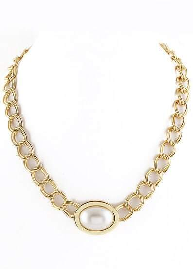 Gold Gemstone Chain Necklace